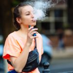 girl with vape